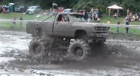 monster truck mud videos muddy monday 1st gen ram monster mud truck season