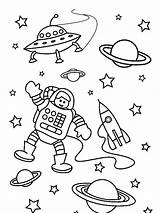 Astronaut Coloring Space Pages Outer Preschool Preschoolers Mission Worksheets Years Popular sketch template