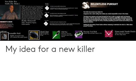 New Killer Roy Smith the Brute RELENTLESS PURSUIT Perks ...