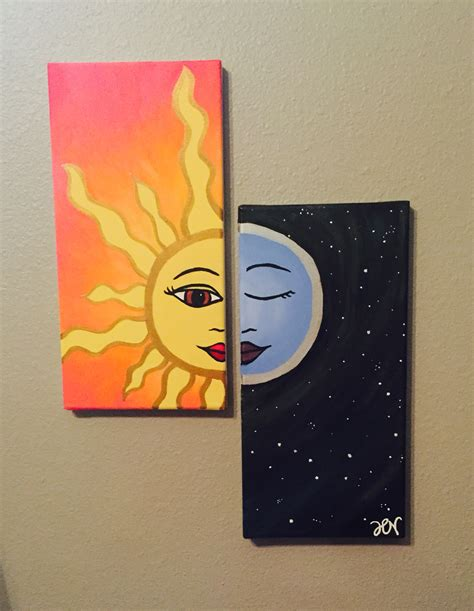 Decor: Interesting Way And Easy Canvas Painting Ideas