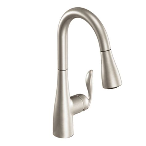 amazon com kitchen faucets moen 7594srs arbor one handle high arc pulldown kitchen
