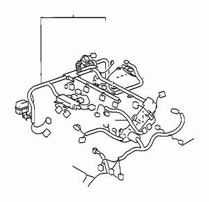 2000 Toyota Sienna Wire  Engine  Electrical  Wiring  Clamp
