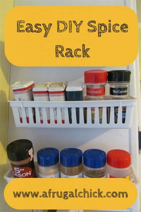 kitchen cabinet spice rack tutorial
