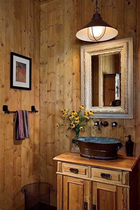 Simple And Rustic Bathroom Design For Modern Home
