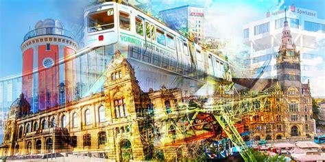 Schwebebahn Wuppertal Kunst Collage  Modernes Design