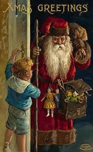 Vintage Christmas Postcard Santa Claus