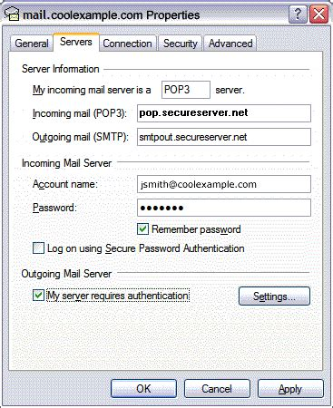 change pop email settings  microsoft outlook express