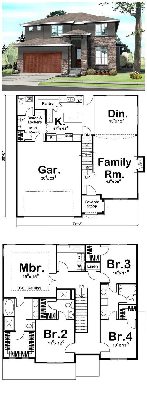 home plans with mudroom contemporary prairie style southwest house plan 41109
