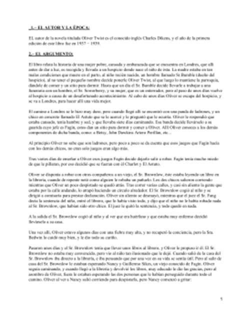 Oliver Twist Resume Francais by 195 Ndice Resumen 2 Personajes