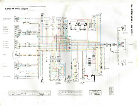 Kawasaki Kz750 Wiring Diagram by 1983 Kawasaki Kz750 H4 Ltd Wiring Diagram Highly Utilized