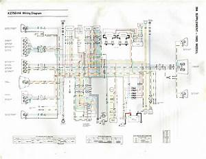 1983 Kawasaki Kz750 H4 Ltd Wiring Diagram  Highly Utilized During Wiring And Harness Install