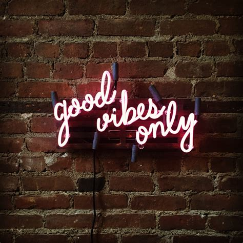 light up sign quotes good vibes only mounted neon sign ready made