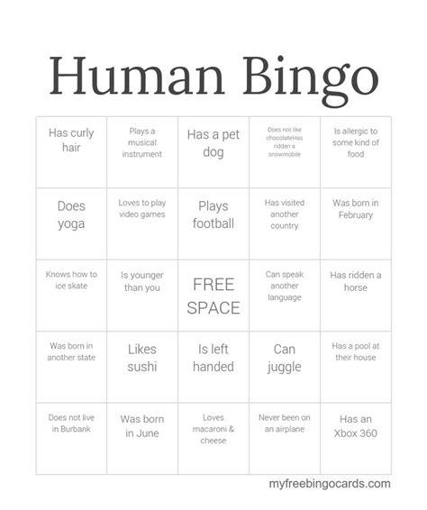 human bingo template the 25 best human bingo ideas on breaker icebreaker for