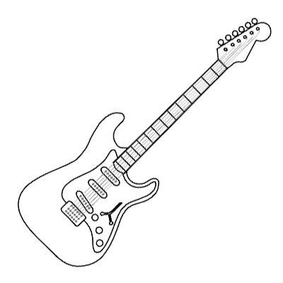 rock  roll coloring pages electric guitar coloring