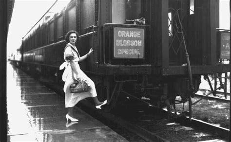 florida memory unidentified woman boarding  orange