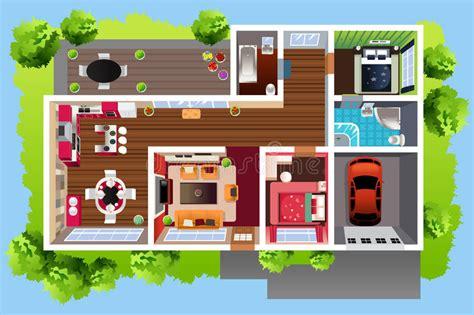 chambre vue de haut architecture de chambre vue d 39 en haut illustration de