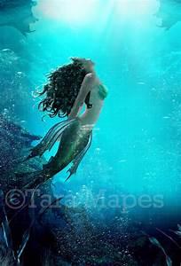 Mermaid Underwater Little Mermaid Inspired Ocean Digital