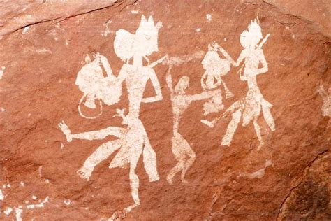 indian rock art themes  pachmarhi petroglyphs