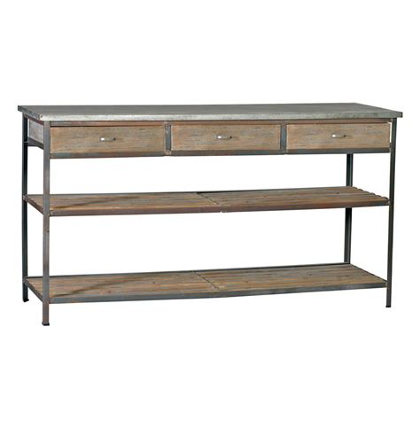 Kitchen Console by Nicholas Industrial Loft Kitchen Island Console Table With