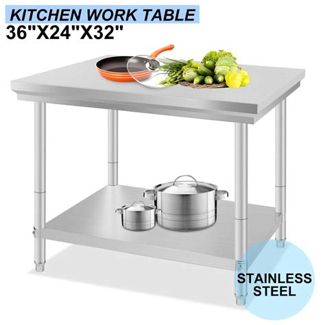 "24"" X 36"" Commercial Stainless Steel Kitchen Work Bench"