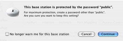 Default Password For Airport by Apple Airport Base Station Wireless Configuration