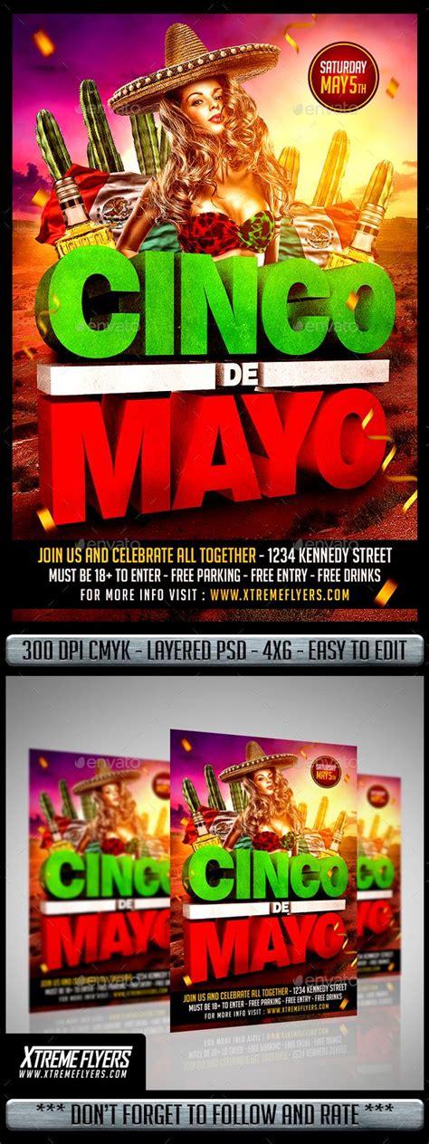 Cinco De Mayo Flyer | Cinco de mayo, Halloween flyer, Flyer