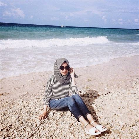 rahmas blog style hijab pantai