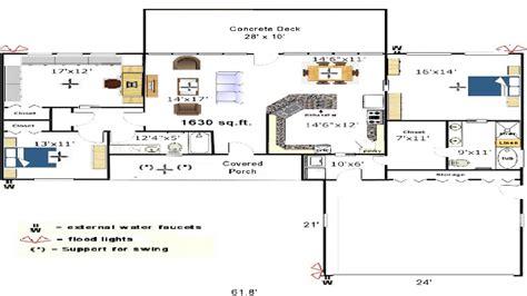 Galley Kitchen Floor Plans Small Kitchen Floor Plans