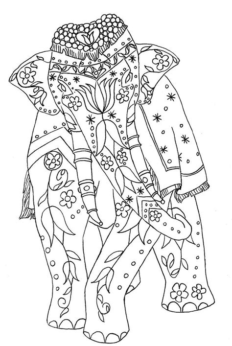 indian coloring pages indian elephant coloring page coloring home