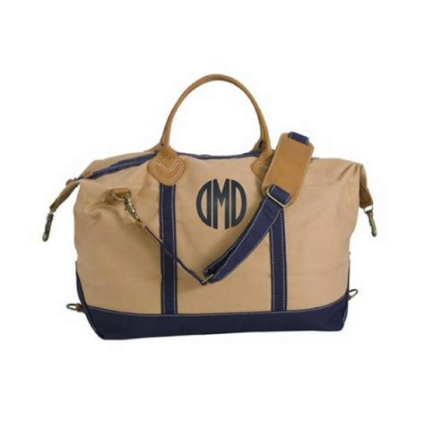 monogrammed weekender tote bag   colors