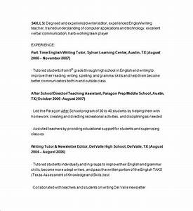 tutor resume template 13 free samples examples format With sample resume for tutors