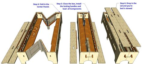 double folding bed    woodworking plans