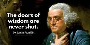 Benjamin Franklin Quotes - iPerceptive