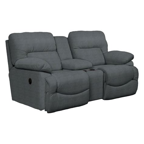 Reclining Loveseat With Middle Console by Asher 80 Quot Blue La Z Time 174 Manual Reclining Loveseat With