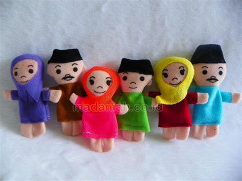 Boneka Jari Keluarga jual murah alat peraga edukasi boneka jari keluarga