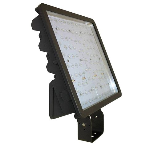 174 watt bronze integrated led outdoor flood light bracket