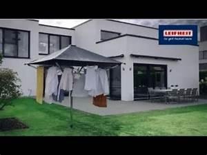 Wäschespinne Mit Dach : leifheit waeschespinne lino protect 400 mit dach youtube ~ Watch28wear.com Haus und Dekorationen