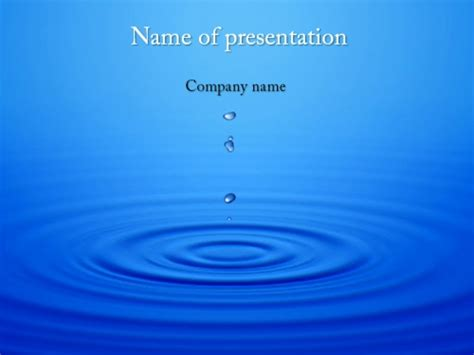 dripping water powerpoint template  impressive