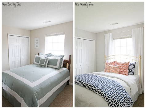 Living Room Makeovers Before And After Pictures by Guest Bedroom Makeover Reveal