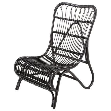 fauteuil rotin noir louisiane maisons du monde