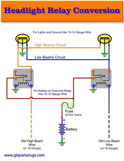 Headlight Relay Wiring Gtsparkplugs