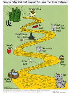 Halloween Treasure Hunt Clues Uk by Bnute Productions Free Printable Wizard Of Oz Scavenger