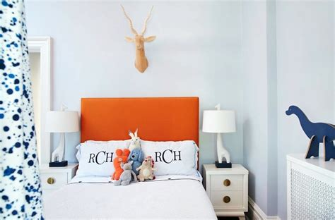 orange  blue boys room contemporary boys room