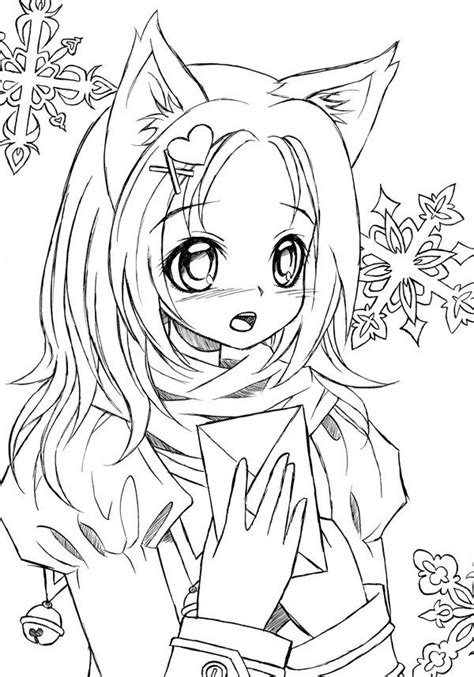 12 Pics Of Anime Cat Girl Warrior Coloring Pages Anime