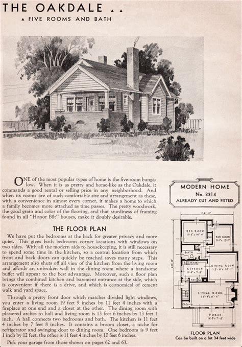 sears kit homes oakdale modern bungalow small house plan