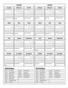 2016 two year calendar free printable templates With multiple year calendar template