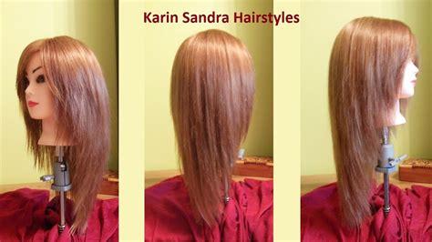 Long Layered V Haircut Tutorial