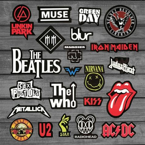 rock band 21pcs stickers pack laptop stickers macbook