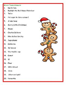 Stocking Stumpers Christmas Trivia Game By The Extra Energetic Educator