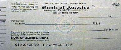 bank  america check